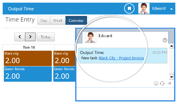 Instant Messenger - Output Time Newtask
