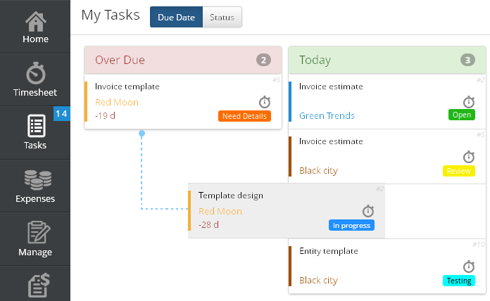 Move Tasks in My Tasks