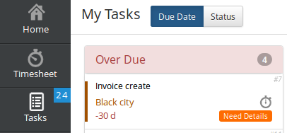 Output Time My Tasks Option