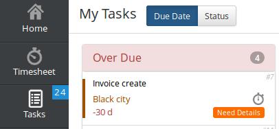 Output Time My Tasks Option