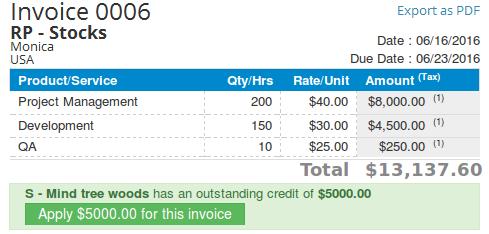 Pain-free Invoice