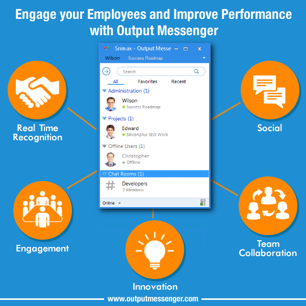 Engage Employees with OutputMessenger